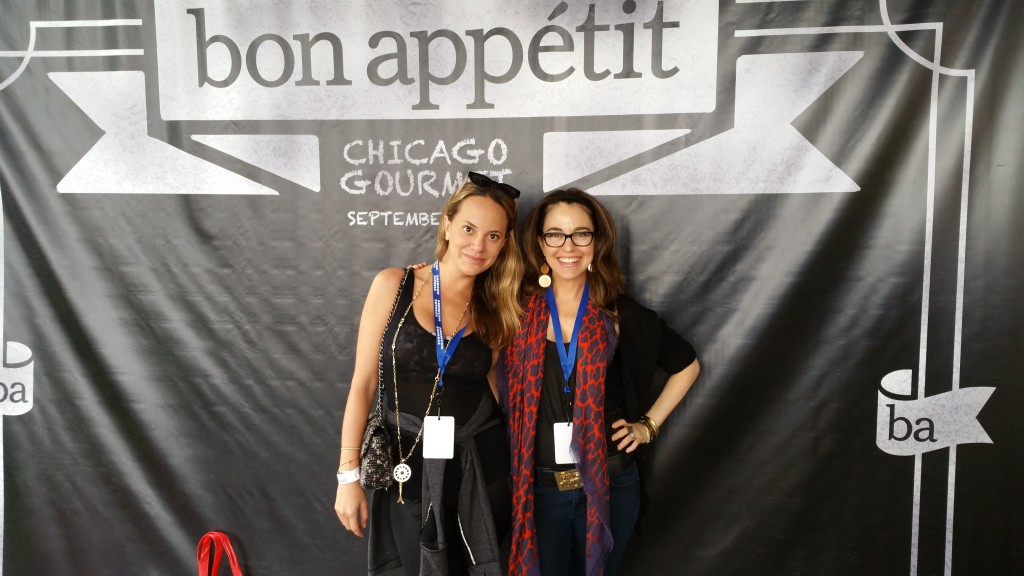 Amy Koch of Travel and Leisure and FOX News and I at Bon Appetite Chicago Gourmet