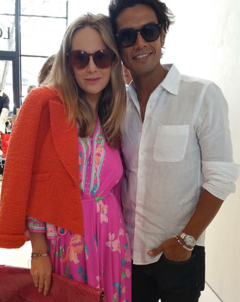 Omar Hernandez of Omar's NYC and I at Loewe in the Miami Design District.